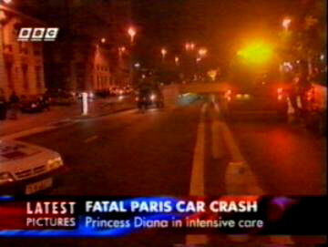 Diana crash scene as televised