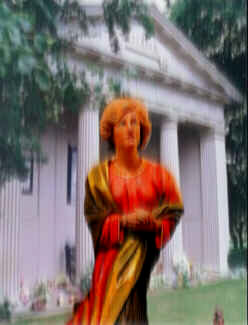 Diana apparition at island grave
