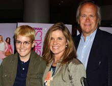 Dick Ebersol with his wife, actress Susan St. James, and their son, Edward
