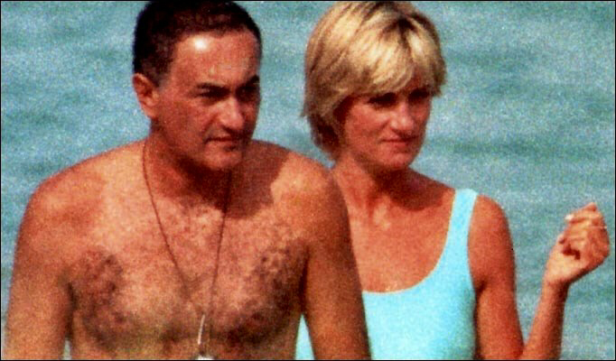 Dodi Al Fayed and Princess Diana in summer of 1997