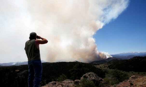 Dwayne Crawford looks out at the High Park Fire