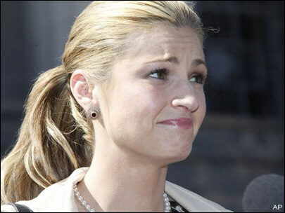 ESPN anchor Erin Andrews reacts anxiously to news of more death threats