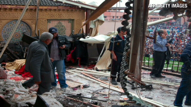 Explosion rips through Moroccan cafe
