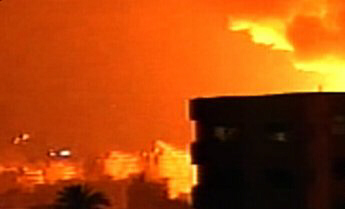 Explosions light the southern suburbs of Beirut