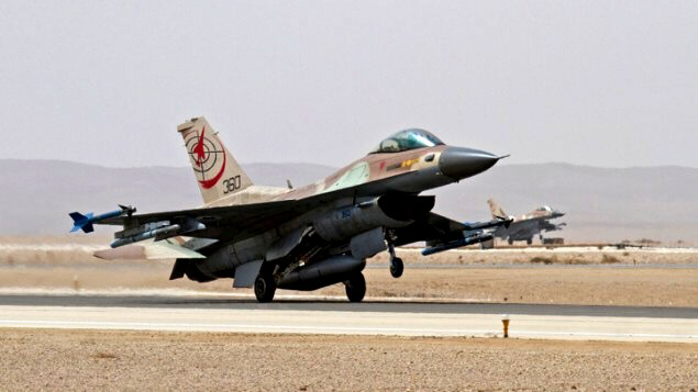 Fighter jet at the Uvda Air Force Base near Eilat