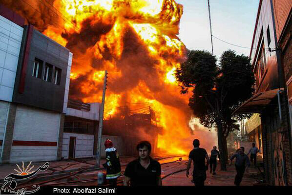 Fire in Iranian city may have been from a bomb