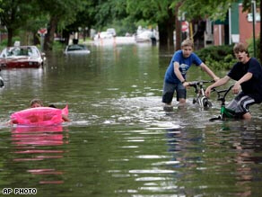 Flooding in Franklin, Indiana