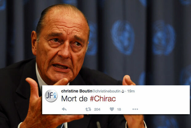Former president Chirac dies