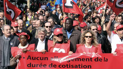 France's unions joined forces Tuesday to organize strikes