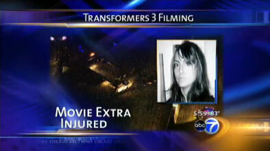 Actress Gabriela Cedillo was scalped on the movie set of Transformers 3