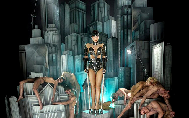 Gaga in a recreation of 'Metropolis', shot by David LaChapelle, 2009.