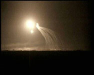 Fallujah illuminated by 'white phosphorous'