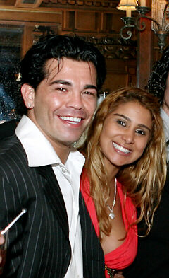 Gatti with his wife Amanda