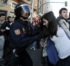 Girl roughed up by Italian police - November 14, 2012
