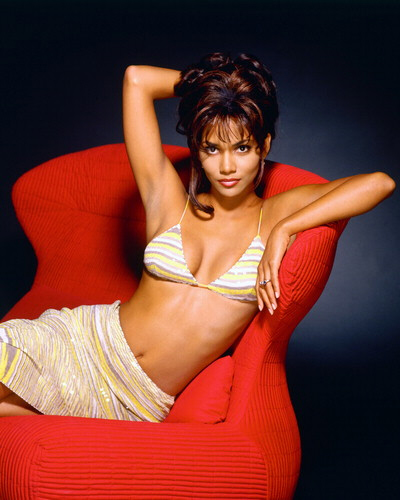 Halle Berry warms up