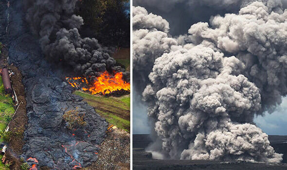 Hawaii volcano eruption of Kilauea and Big Island Earthquake