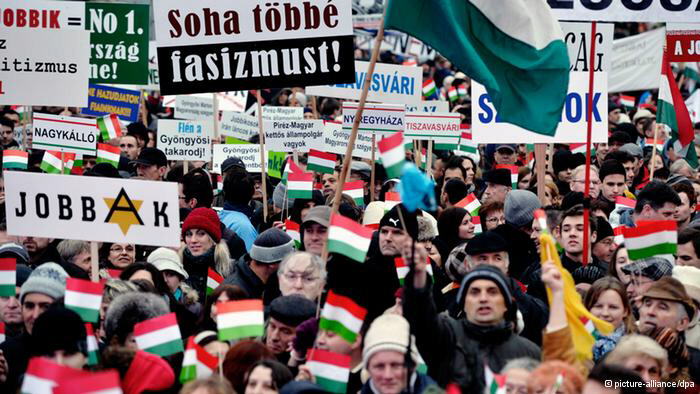 Hungarians protest in the thousands against right-wing government's anti-Semitic decrees