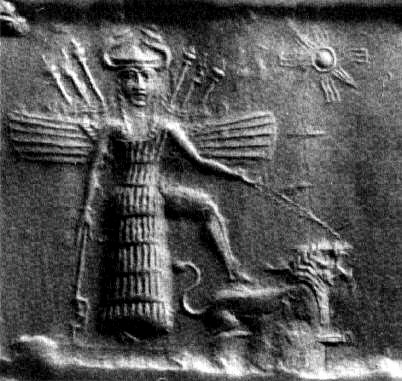 Inanna, the Sumerian goddess of love and war