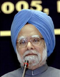 Indian Prime Minister Manmohan Singh, the blue-turbaned leader of India