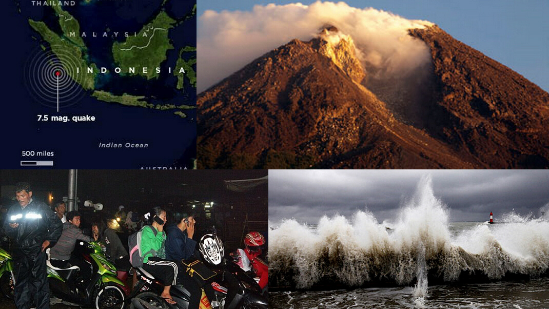 Indonesia has experienced a 7.7 earthquake, a killer tsunami, and an eruption of Mt. Merapi ... all in the space of a few hours