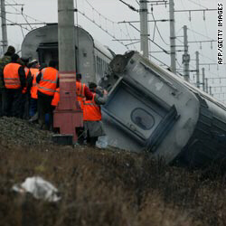 Investigators probe derailment of express train