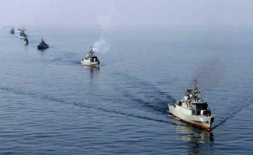 Iranian naval vessels near the Strait of Hormuz, Jan. 3, 2012
