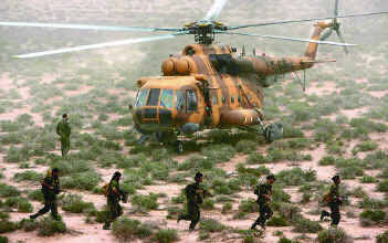 Iran's elite revolutionary guards cross into Iraq by helicopter