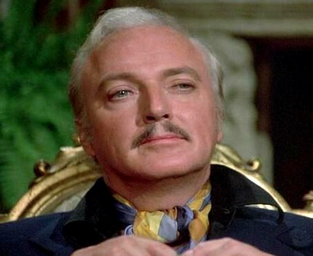 "Jack Cassidy as 'The Great Santini' in his final appearance in the Columbo TV series, in the episode entitled ""Now You See Him"" (1976)"