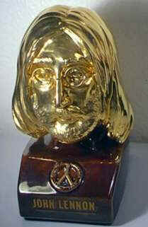 Golden bust of John Lennon