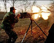 Kosovar Albanian fires at Serb soldiers