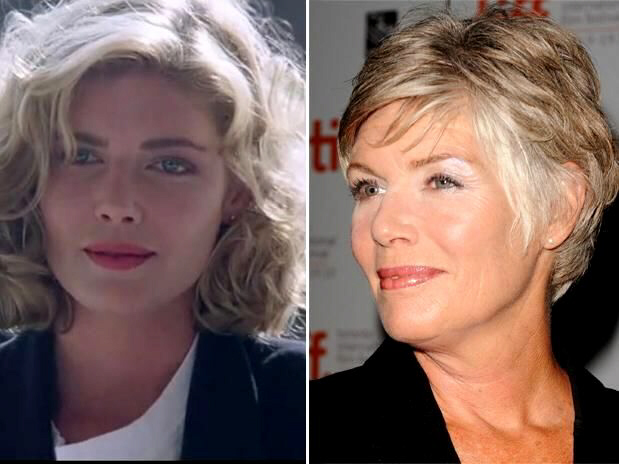 Kelly McGillis in the 1980s and now