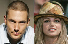 Kevin Federline and ex-wife Britney Spears