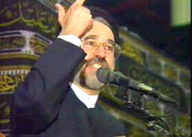 Mohammad Khatami delivers fiery speech