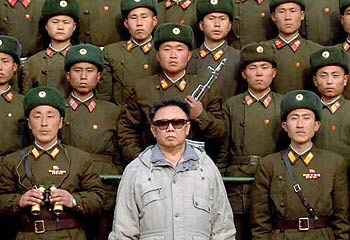 Kim Jong-Il and his troops