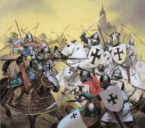Knights Templar fight the Eastern barbarians