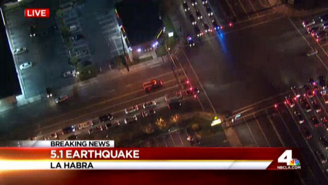 La Habra Earthquake magnitude 5.1 Southern California