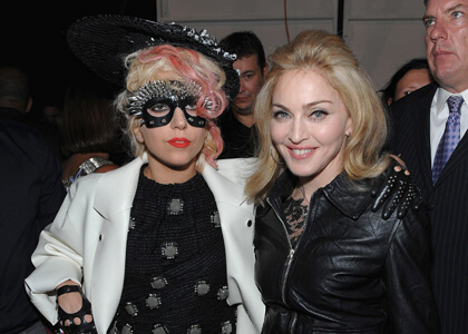 Lady Gaga and Madonna at Marc Jacobs