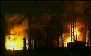 Lebanese power stations bombed