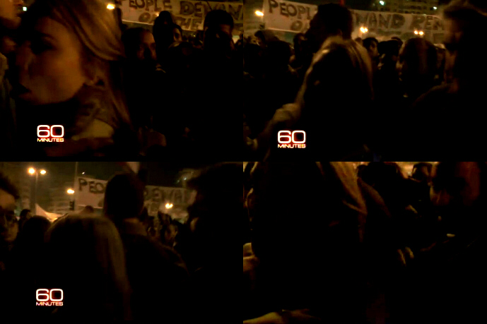 Camera team's lights go out just before Lara Logan is attacked by mob