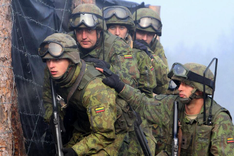 Lithuanian soldiers take part in NATO-led military exercises