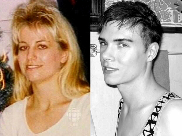 Luka Rocco Magnotta (R) and Karla Homolka (L)