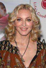 Madonna appears for publicity photos in April 2008