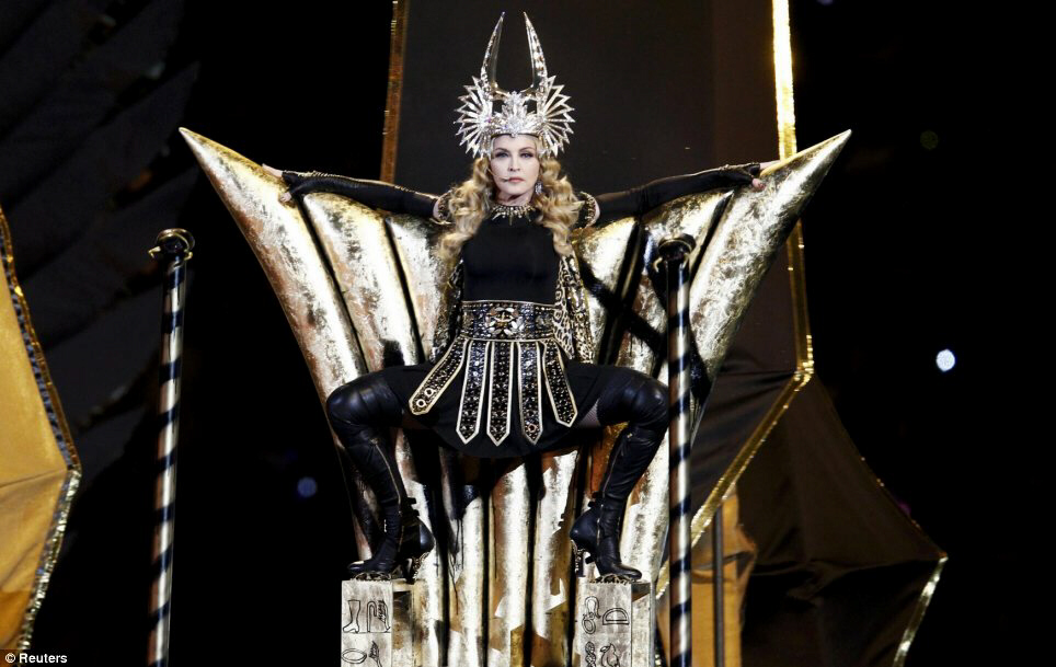 Madonna appears at Superbowl as Isis, Inanna, Ishtar