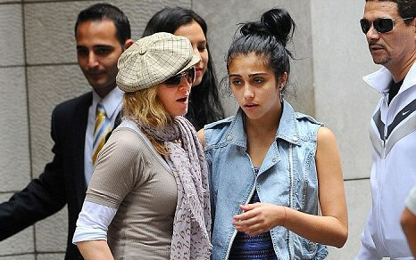 Madonna comforted her daughter Lourdes