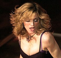 Madonna out of breath