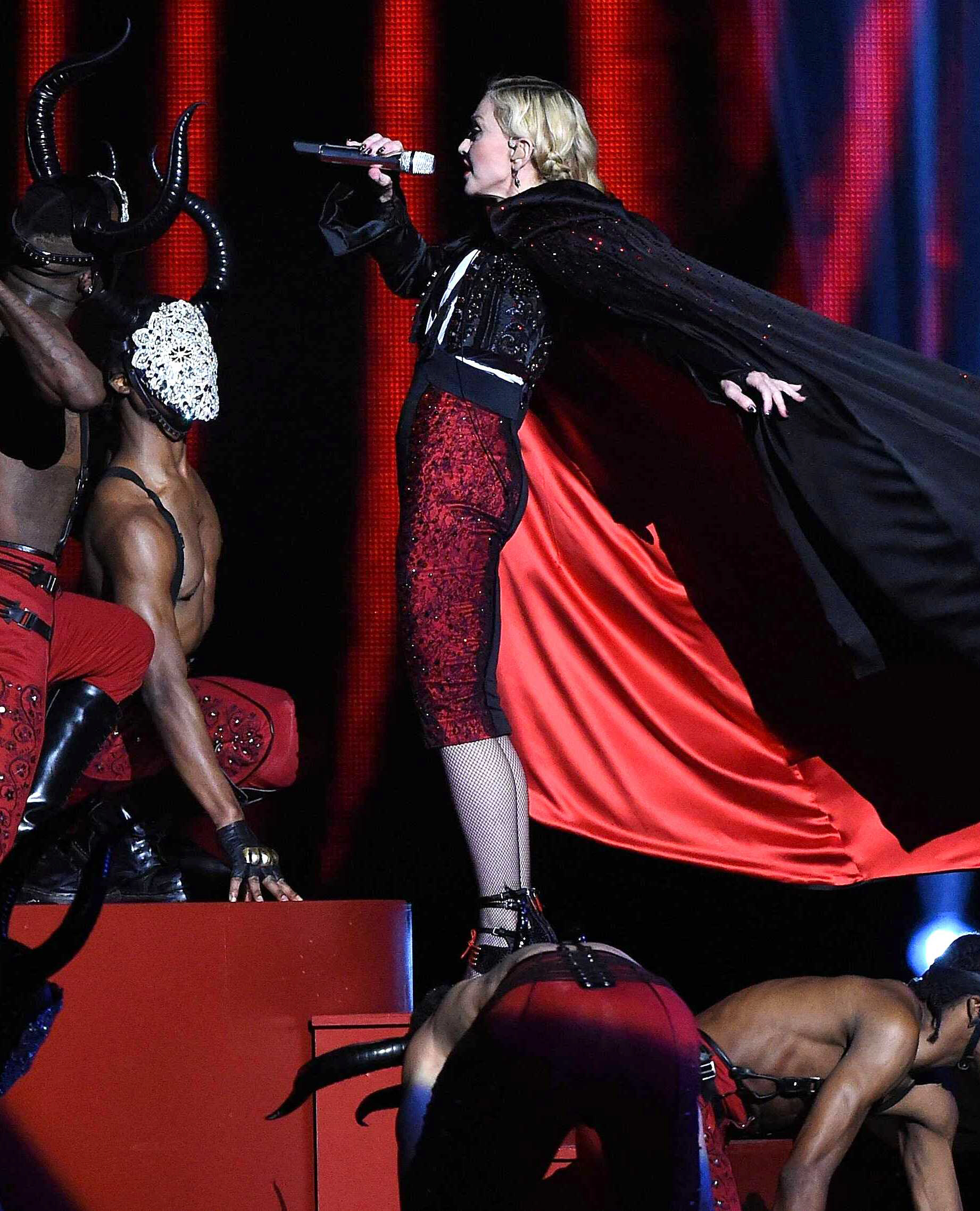 Madonna strangled by cape