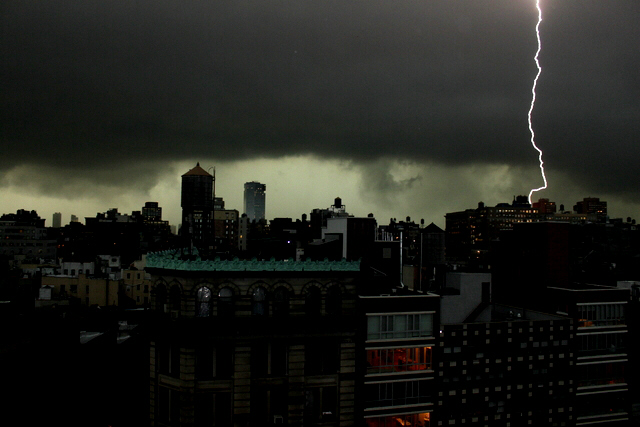 Tornado sweeps through New York City, Staten Island, Long Island, and New Jersey causing much destruction and power outages