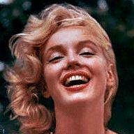 Marilyn laughing