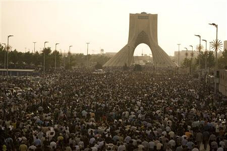 Mass demonstrations in Tehran