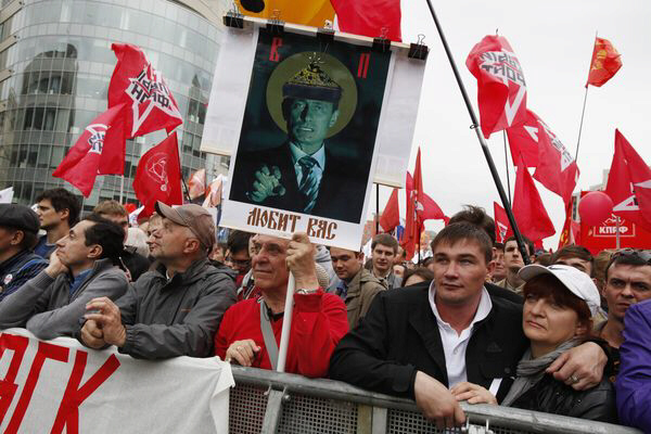 Massive Moscow demonstration denounces Putin